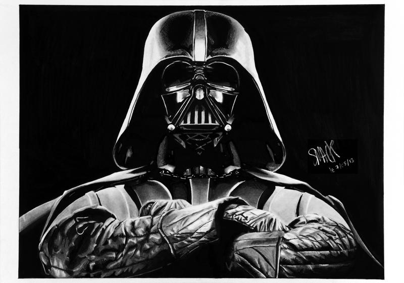 Darth vader by smack0969 on deviantart for Darth vader black and white