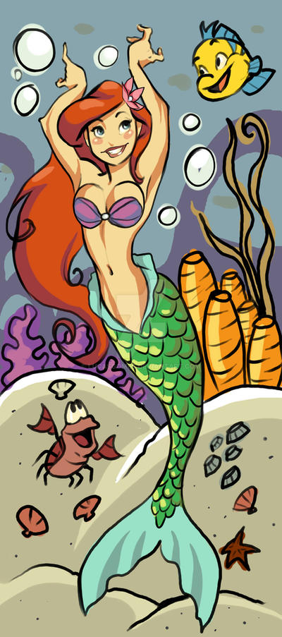 ariel and friends by lucasgomes