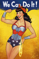 Wonder woman pinup style by lucasgomes