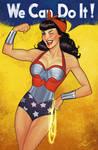 Wonder woman pinup style