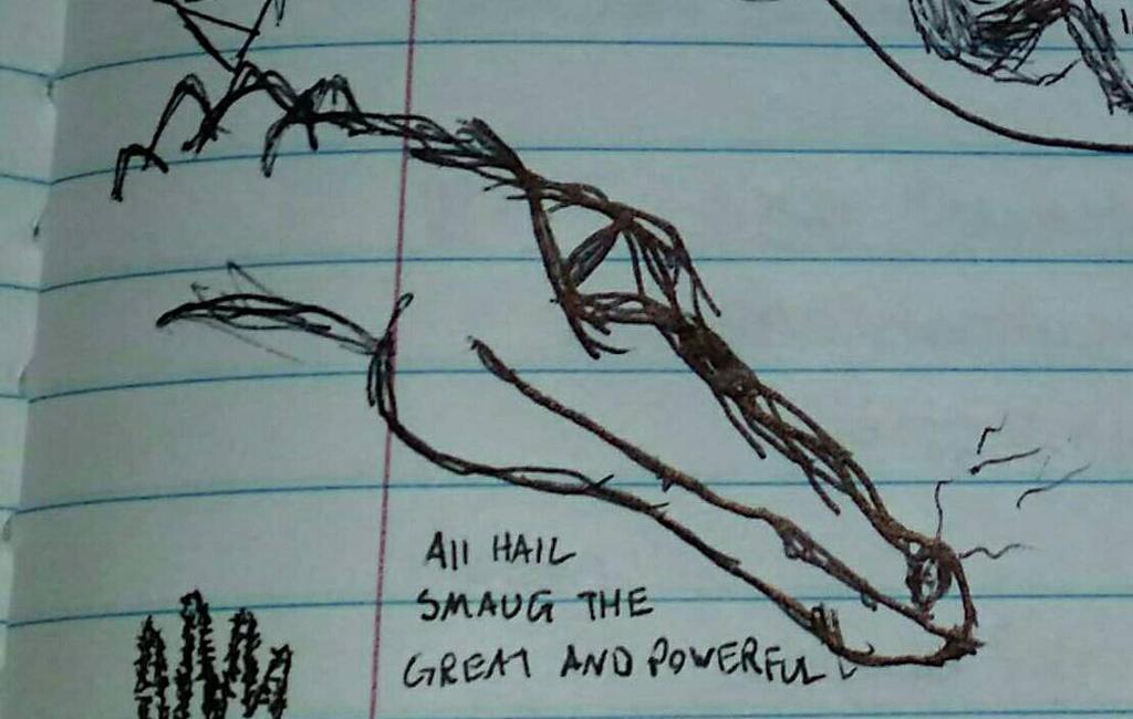 Smaug Sketch by AlisHarrowing