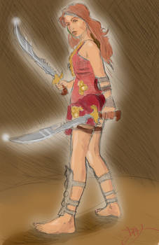 Barbarian Girl from the East
