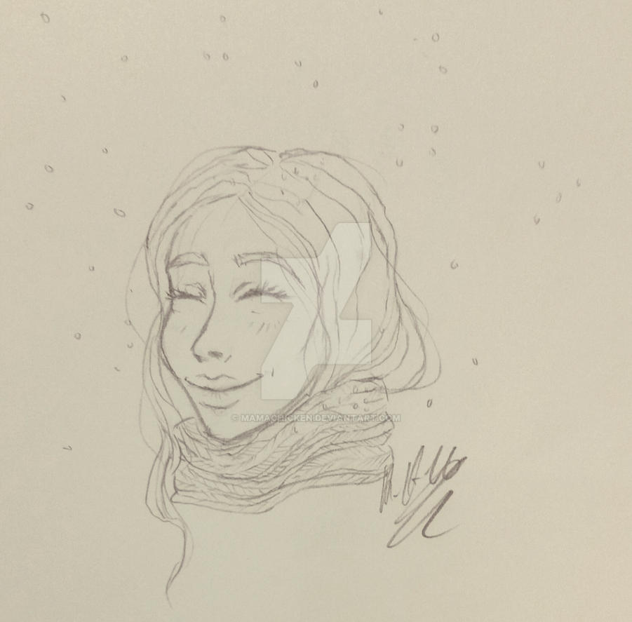 Casual doodlin' #7 - happy little doodle by Mamachicken