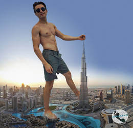 Mega Michael Johnston Attacks Dubai by jokse345
