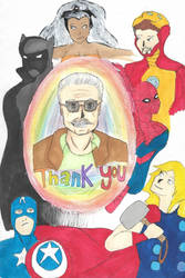 Tribute to Stan Lee by sir-hattington