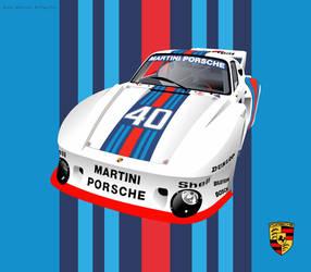 Martini Porsche 935 - 1977 #40 by aalexwerner