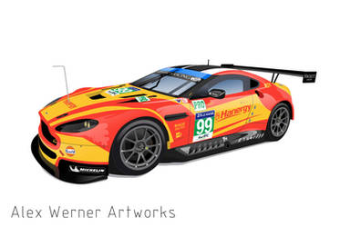 Aston Martin Vantage #99 - Le Mans 2015 by aalexwerner