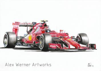 Scuderia Ferrari 900th race - Kimi Raikkonen 2015 by aalexwerner