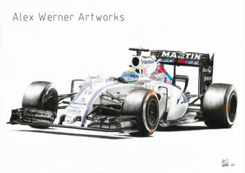Felipe Massa - Williams Martini Racing FW37 2015 by aalexwerner