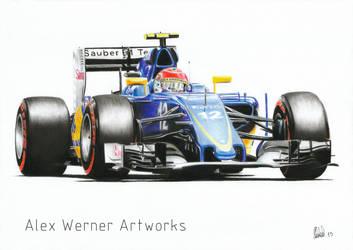 Felipe Nasr - Sauber C34 2015 by aalexwerner