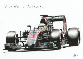 Fernando Alonso - McLaren Honda MP4-30 2015 by aalexwerner