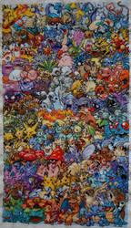 Finished Epic Pokemon Cross Stitch