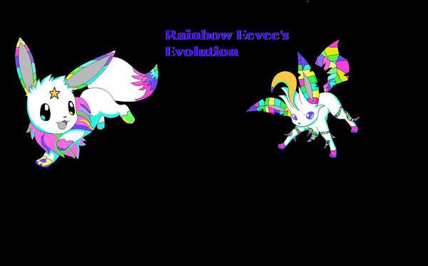 Rainbow Eevee Evolution By Pokemonbreeder1 On Deviantart