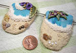 Beach Scenes in Polymer Clay by eerok1955