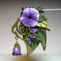 Purple Flower Garden by eerok1955