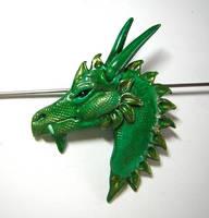Green Dragon Pendant by eerok1955
