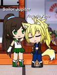 Sailor Jupiter petting Victoria by DevilBoy638