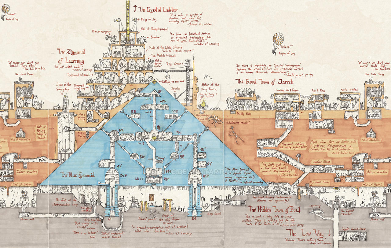 Map Of The Blue Pyramid By Lukc On Deviantart