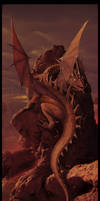 Earth and Fire  - Dragon Art -