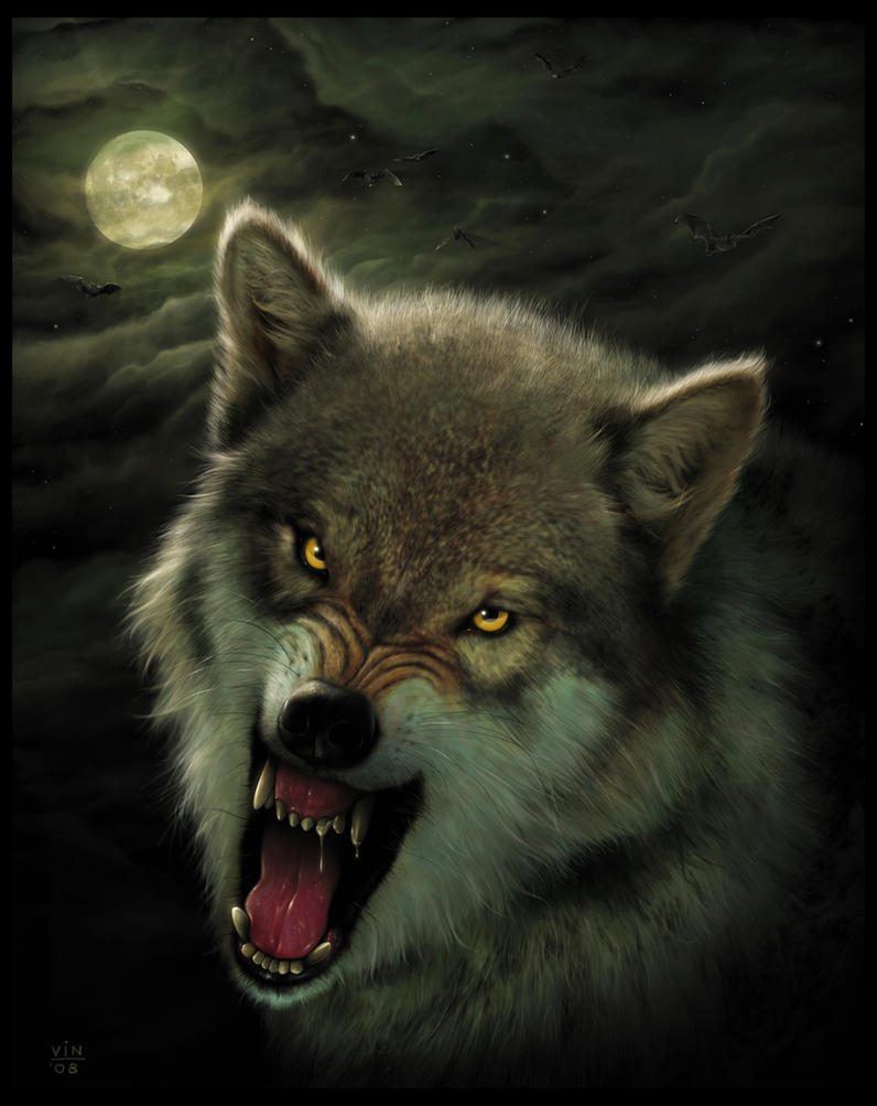 Realistic Drawings Of Wolves Growling Nightbreed - Wolf Art ...