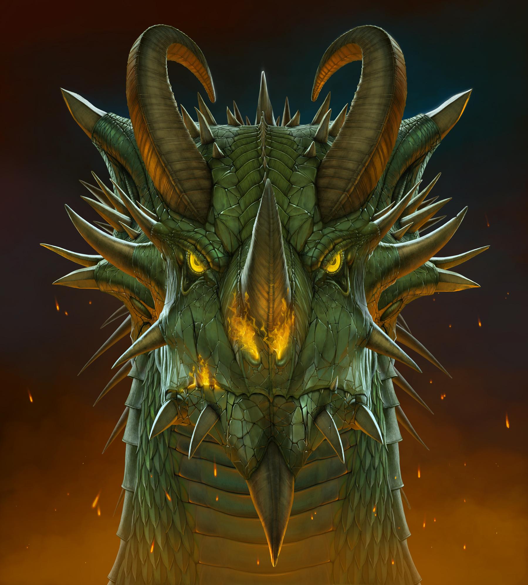 Big Face Dragon Head