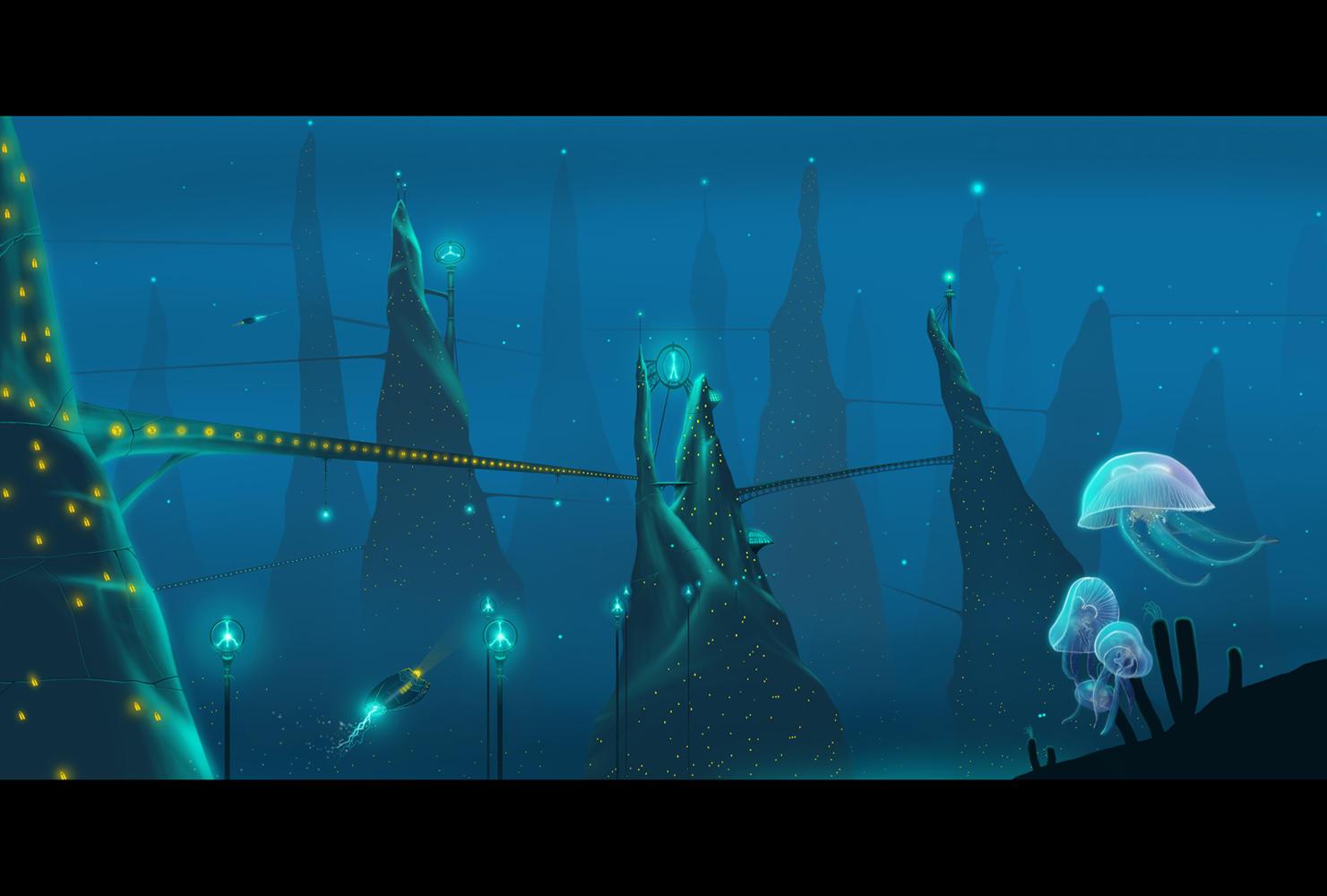 Underwater City by wallace on DeviantArt