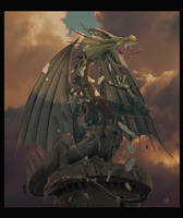 The Awakening  -Dragon Art- by wallace
