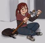 Ellie making weapons