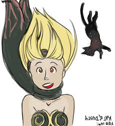 Feb 14th: Kat and Dusty from Gravity Rush by Symplee-D