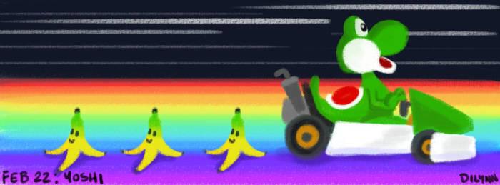 Feb 22: Yoshi from Mario Kart