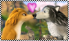 Kate and Humphrey stamp by Chidori1334