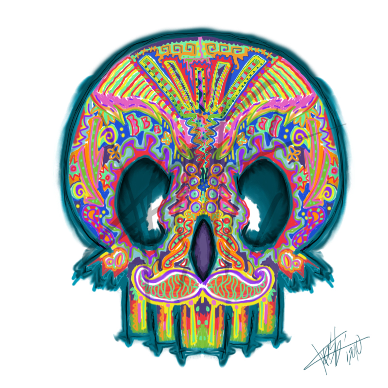 Mexican Skull tattoo design by ~krashikat on deviantART