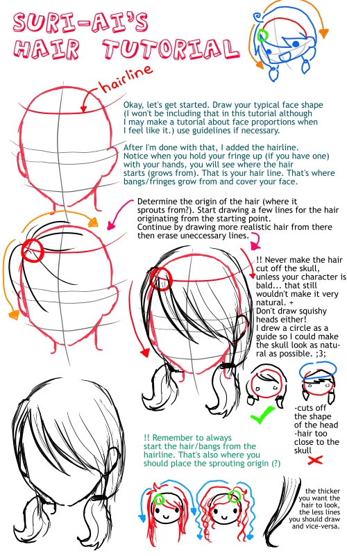 anime hairstyle tutorial. Suri-Ai#39;s Anime Hair Tutorial