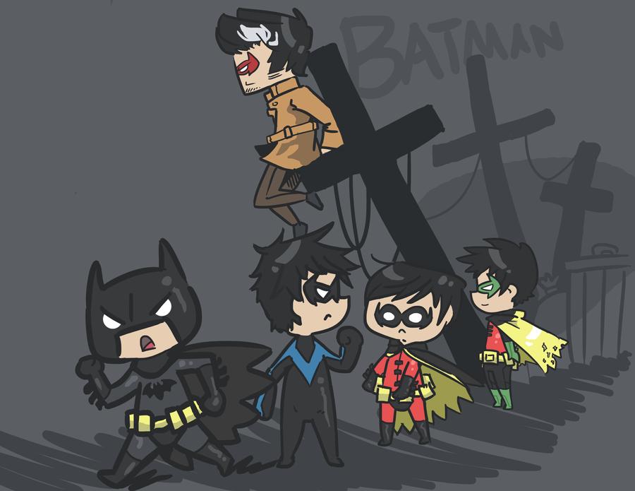 The Bat Family by Hatsu-Robin