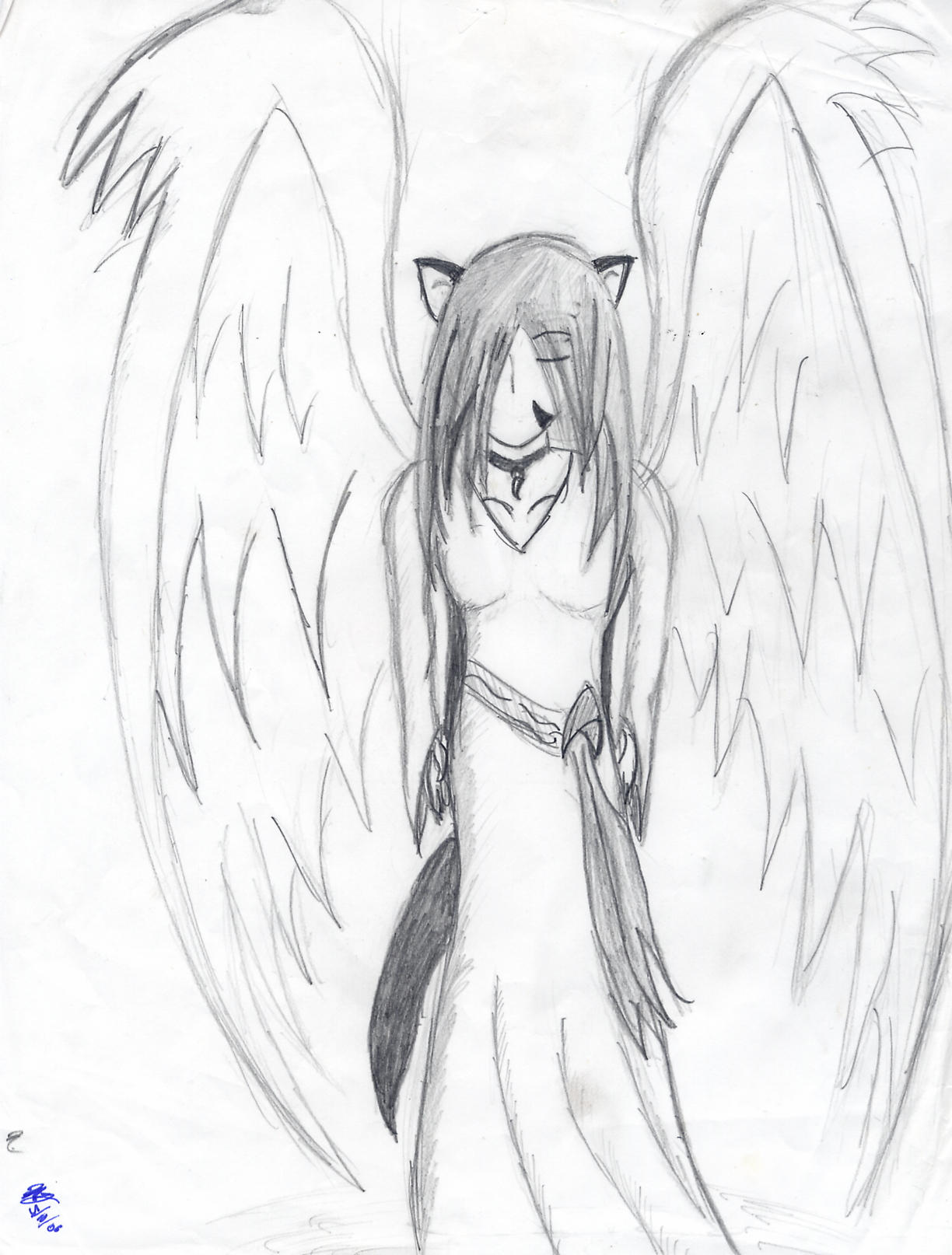 winged wolf by nacaern on deviantart