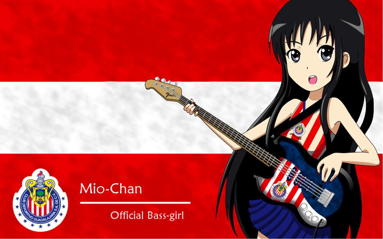 <b>Akiyama Mio bass</b> girl by yondechan on DeviantArt