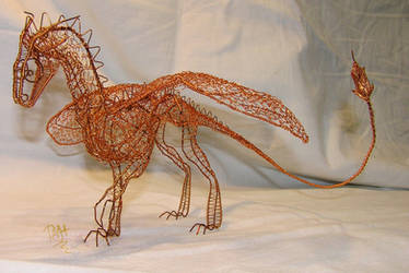 Dragon of wire 2 by Holymain
