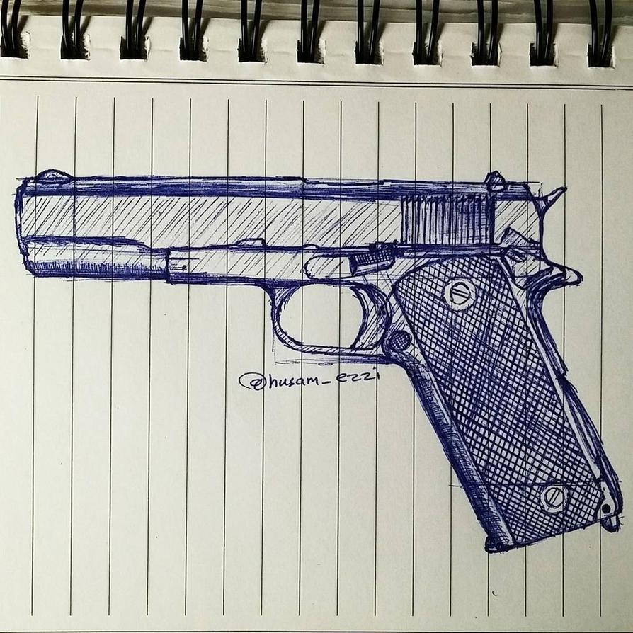 Gun - Pistol by husamezzi