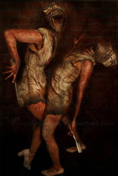 Silent Hill Nurses by PorcelainPoet