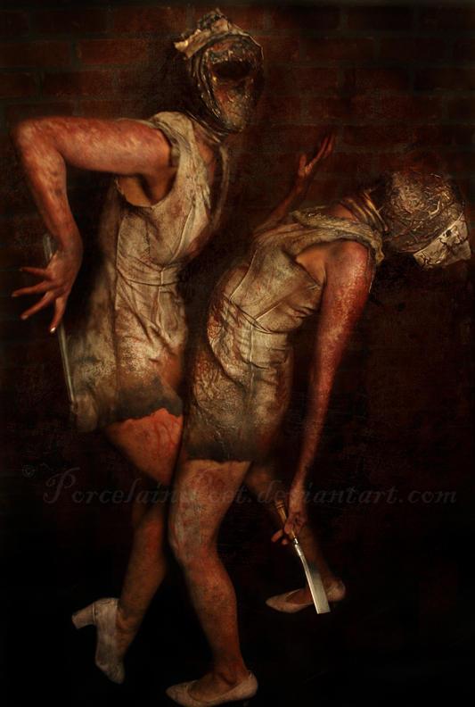 Silent Hill Nurses by PorcelainPoet