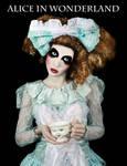 Alice in Wonderland Book Cover by PorcelainPoet