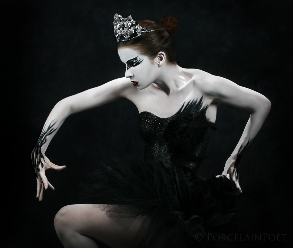 Dark Swan II by PorcelainPoet
