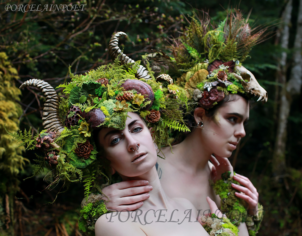 Forest Fauns by PorcelainPoet
