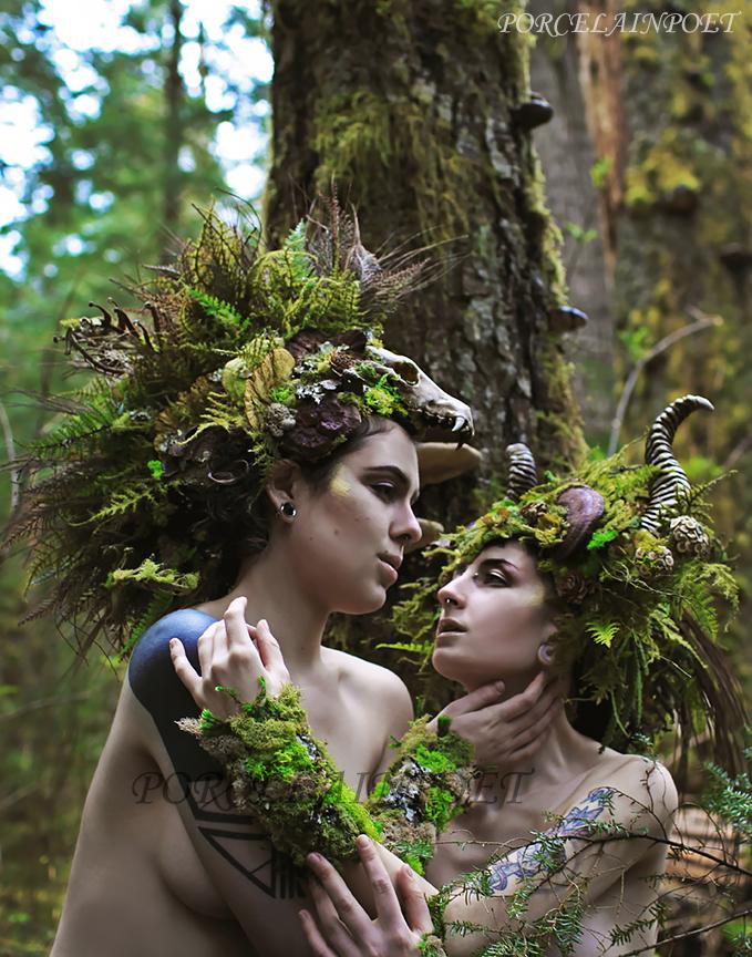 Forest Fauns II by PorcelainPoet