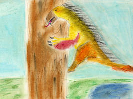 Beipiasaurus up a tree by EdaphosaurusPogonias
