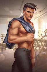 Craig at the Gym by Crestren
