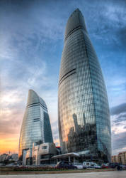 Flame towers by Vusal53