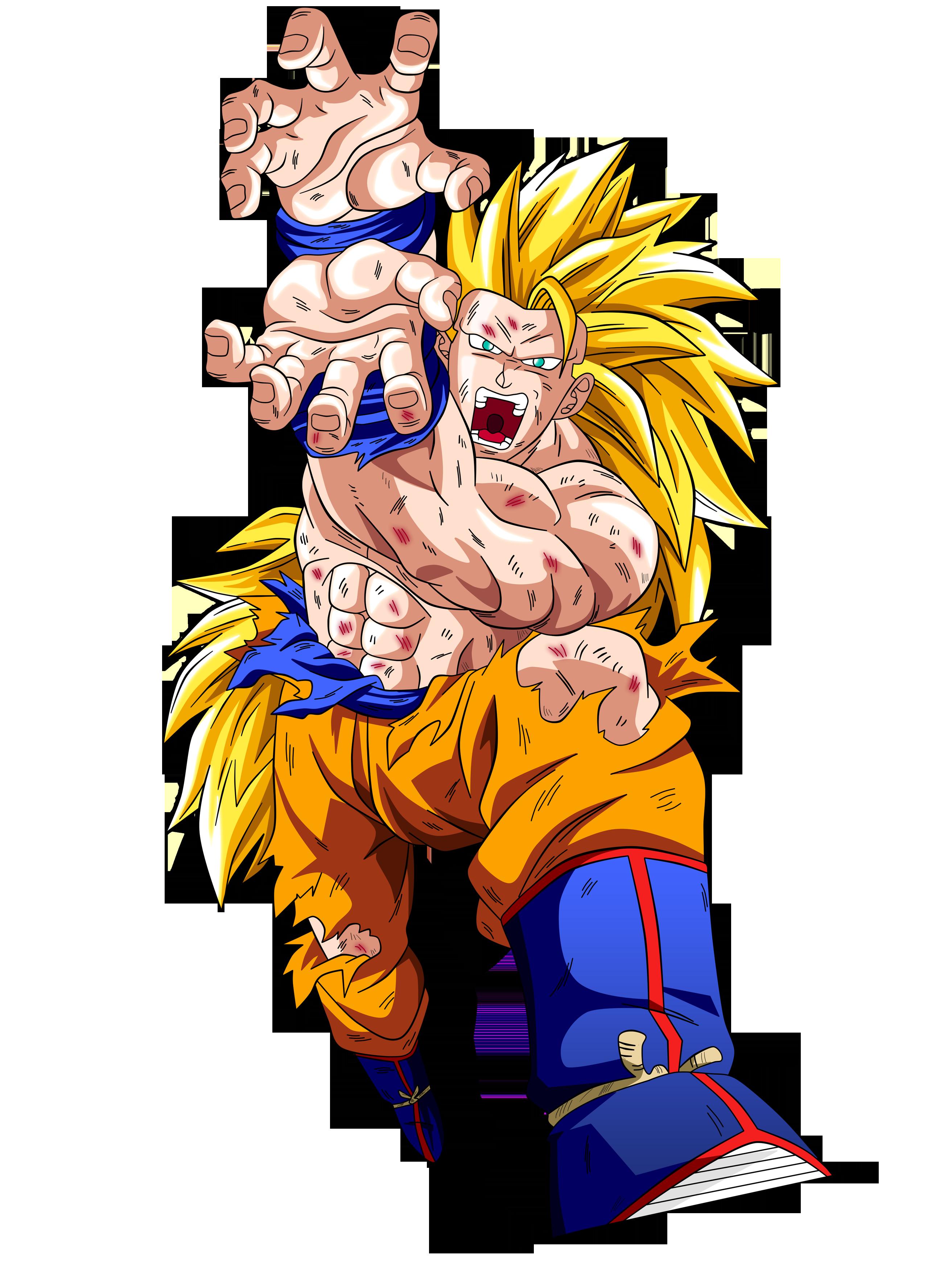 Goku SSJ3 firing Kamehameha blast by OriginalSuperSaiyan ...