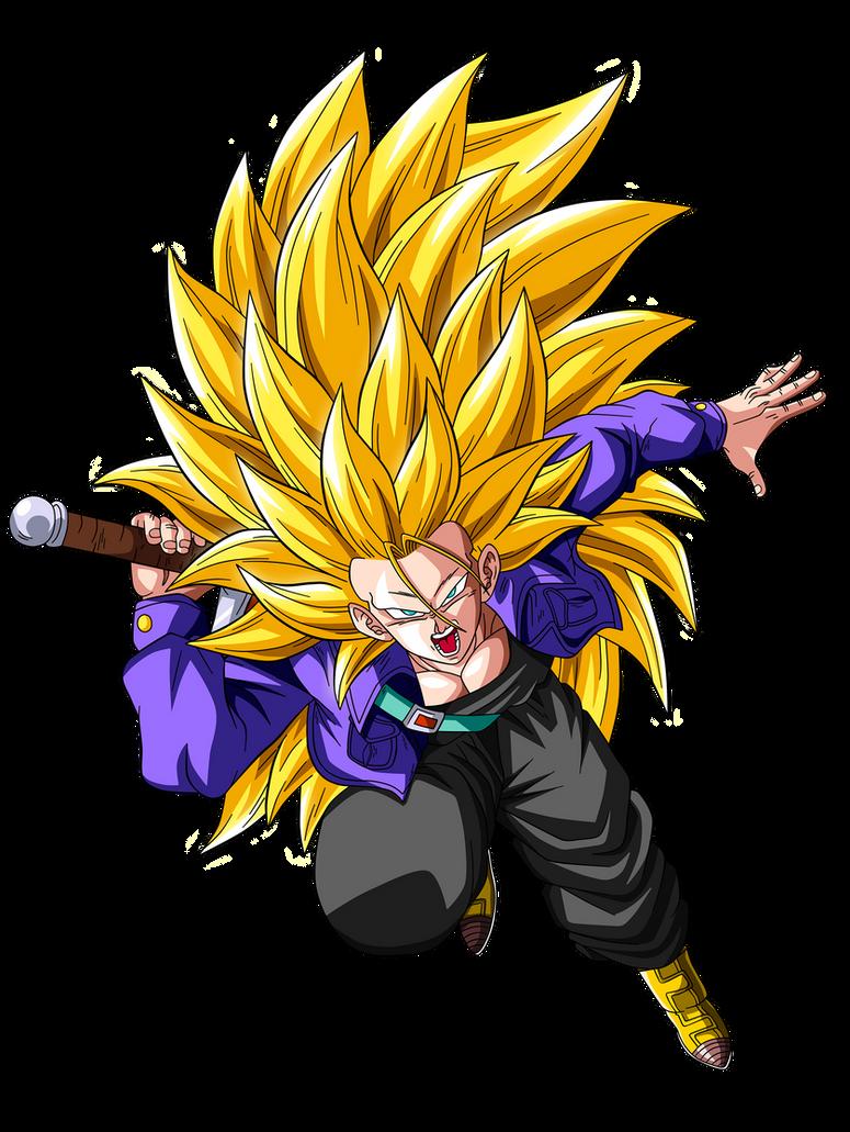Trunks Super Saiyan 3 by OriginalSuperSaiyanKid Trunks Super Saiyan 5