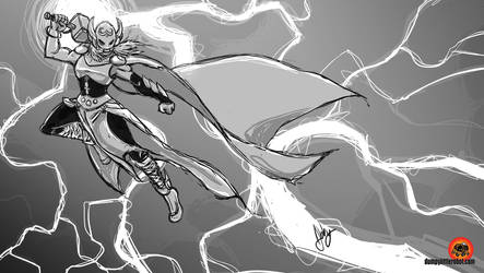 Daily Sketching: New Thor by AbigailRyder
